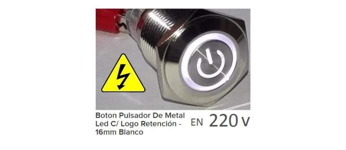 Conectar Pulsador metalico led a 220v