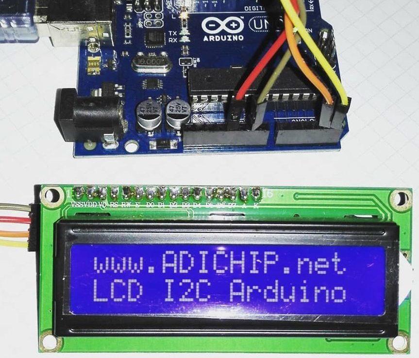 LCD 2×16 por I2C con Arduino y solo dos pines