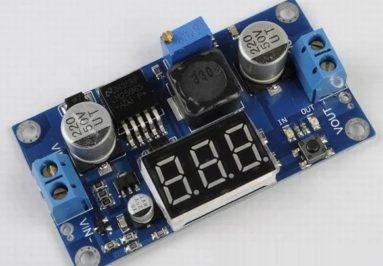 Módulo Step-Down LM2596 con Voltímetro y Display de 7 segmentos